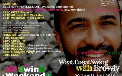 30 – 1 july 2018 : WestCoastSwing mit Browly/ Strassbourg