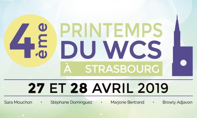 27-28 Avril 2019 : 4ème Printemps du WCS à Strasbourg