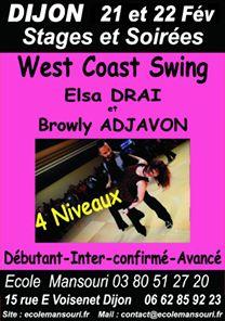 21-22 Febuary : West coast swing Workshop, Dijon
